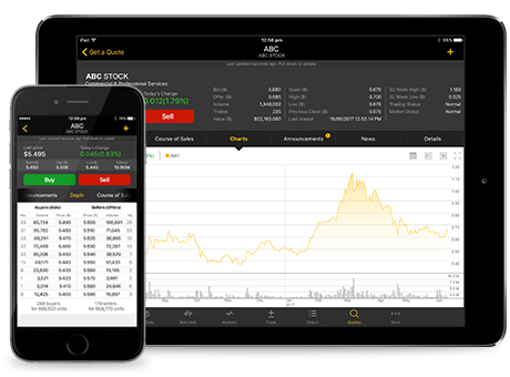CommSec portal on iPad