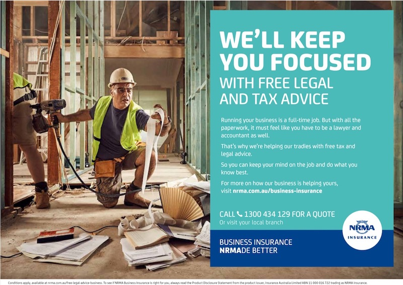 NRMA Retail Business Insurance print advertisement, tradesman